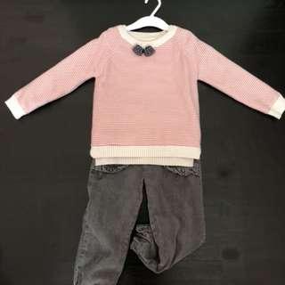 Pink winter set