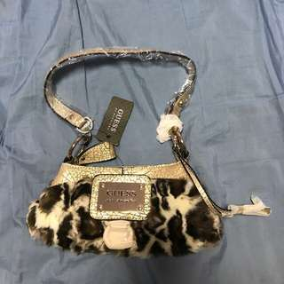 Guess small fur handbag