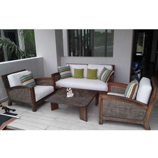 Sofa Set - Teak Wood