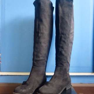 PRE-LOVED FOREVER 21 KNEE-HIGH TALL BOOTS
