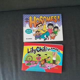 2 sg comics. By Mr Kiasu The Hosomes Lily chili alamak
