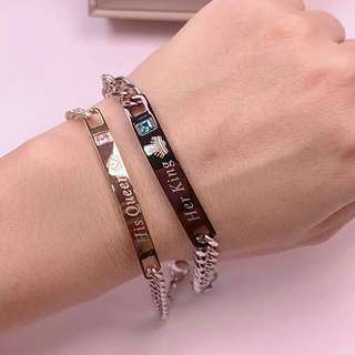 Stainless KING and QUEEN Couple bracelets