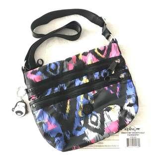 Authentic KIPLING geometric ikat sling bag