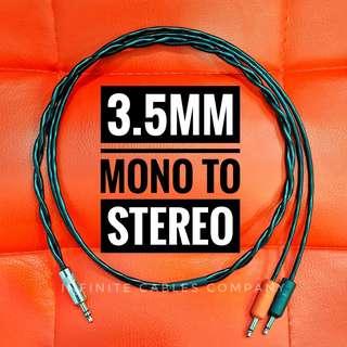 3.5MM - 2 MONO to 1 STEREO PLUG (1-METER)