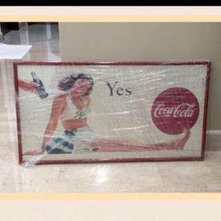 Coca Cola puzzle w/ frame