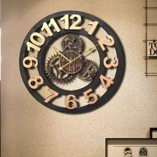 Vintage Wall Clock (Arabic)