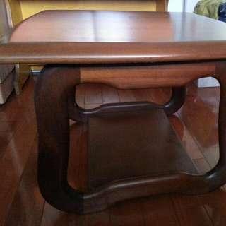 實木 邊桌
