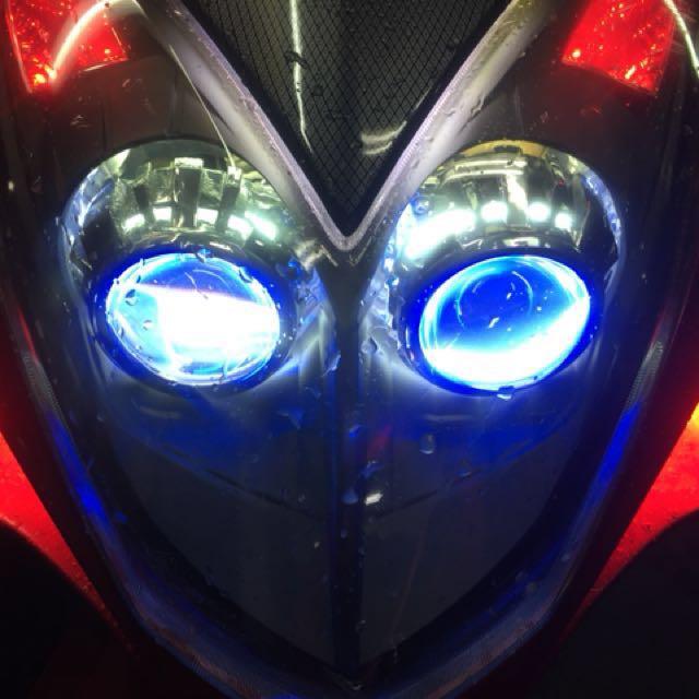 104年雷霆大燈組魚眼含內外2圈天使眼