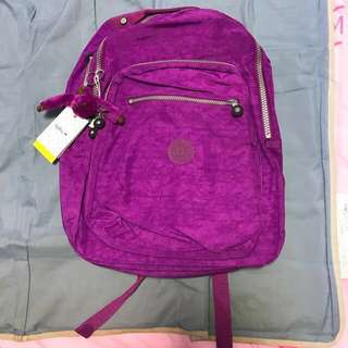 Kipling large backpack in orchid purple colour