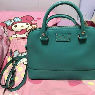 Kate Spade small Rachel handbag with sling in Turquoise colour