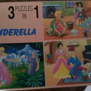 Kids Puzzle . 26 pieces cinderella 3- in -one