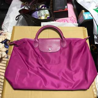 Longchamp Neo Large in Fuschia colour
