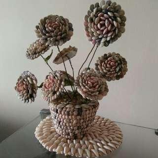 handmade seashell flower