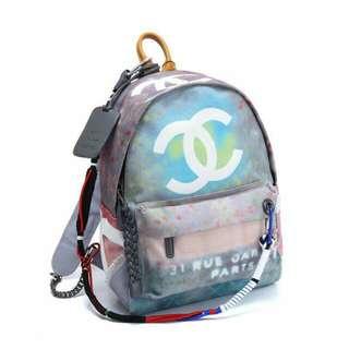 Chanel graffiti bag pack L30cmxH38cm