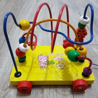 Wooden toy maze beads
