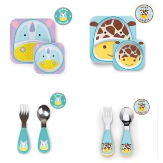 BN Skip Hop kids plate, bowl and utensils