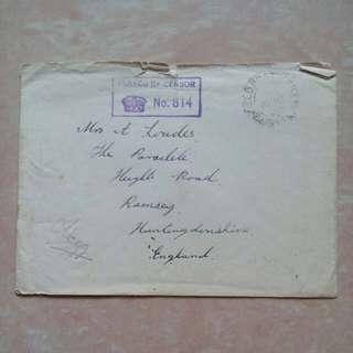 [lapyip1230] 大英帝國戰時軍郵 1939年
