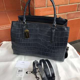 New coach croco embossed bag