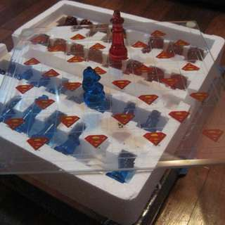 Glass chess - Superman (Limited Edition)
