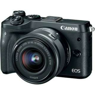 Kredit Tanpa Kartu Kredit Canon EOS M6 Mirrorless Digital Camera with 15-45mm Lens