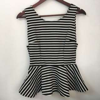 Preloved stripes sleeveless