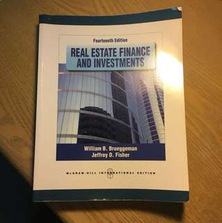 Real estate finance and investments (bruggeman & fisher)