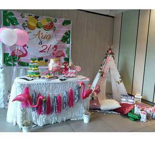 Flamingo Theme Party Indoor and Outdoor Picnic Event Organiser