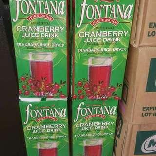 Fontana cranberry juicw