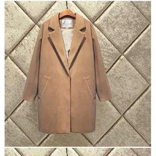 全新杏啡色外套 大褸 coat jacket