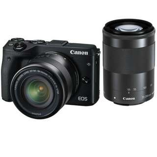 Kredit Tanpa Kartu Canon EOS M3 Kit EF-M 18-55mm + 55-200mm