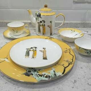 Fine Ceramic Dining & Tea Set