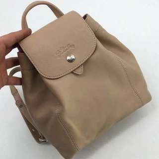 Longchamp Le Pliage Cuir Leather Mini Backpac