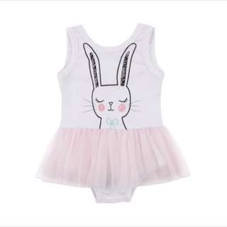 Kid girl rabbit dress romper tutu skirt infant toddler