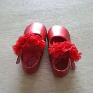 Red CNY shoes from Kiddy Palace girls
