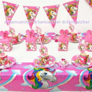 Unicorn theme party supplies