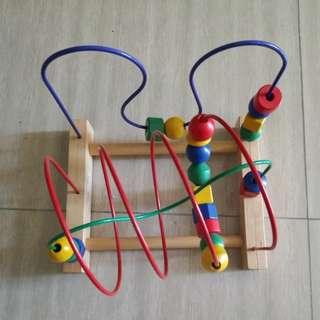 Wooden beads Motor skill