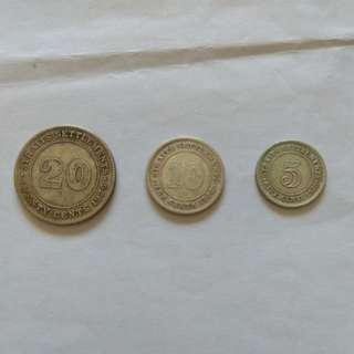 Strait Settlements Coins 1926