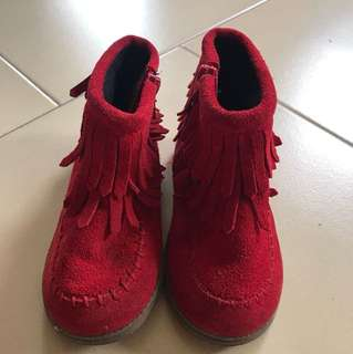 CNY Red boots for Girls