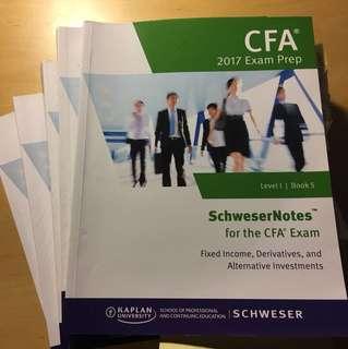 CFA Level 1 Schweser Notes (5 books)