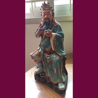 12 inches height antiques Kuan Kong