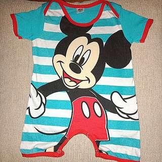 Baby Romper Mickey Print