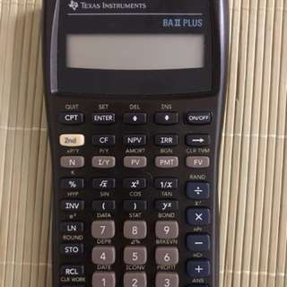 Texas Instruments BAII plus calculator