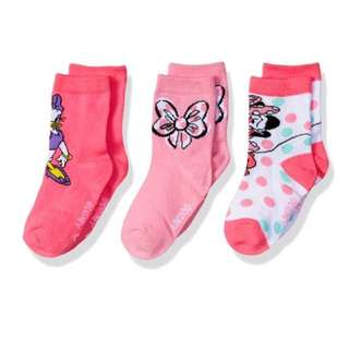 SALE 45% Off - Fits US 5-6.5 (insole 12cm) BNWT Disney Store Minnie Mouse 3 pairs socks