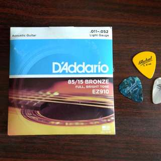 D'addario Strings With Free Picks