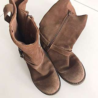 ZARA Girl Brown Suede Boot