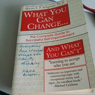 Preloved book- What you can CHANGE...Selling only sgd5! *free posting*