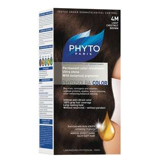 "PHYTO COLOR SHADE ""4M LIGHT CHESTNUT BROWN"""