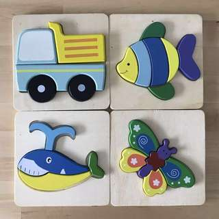 Wooden puzzles for babies