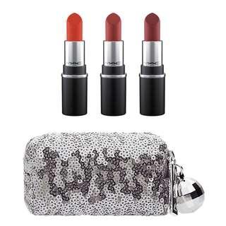 MAC Snowball Mac Snow Ball Mini Lipstick Kit Rose Mac Mini Lipstick Little Mac Matte