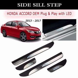 Honda Accord Side Steel Step W/Led